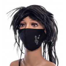 Multi-layer face mask - treble clef with music