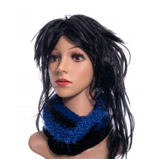Knitted tunnel - blue/black