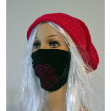 Set No. 1: Knitted pink hat + two-layer face mask Flower of Life