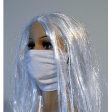 Double-layer face mask - white