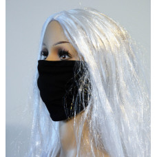 Double-sided facemask -  jeans/black