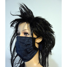 Single-layer facemask, colour jeans